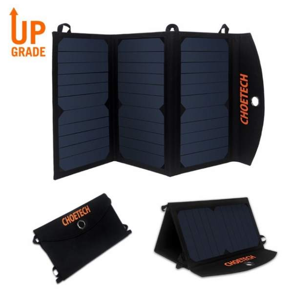 CHOE-Light-Weight-19W-Portable-Solar-Charger